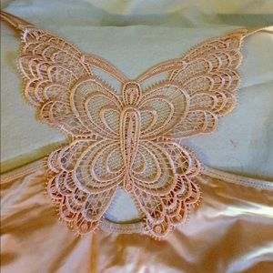 Front hook bra, jeweled closure, butterfly back